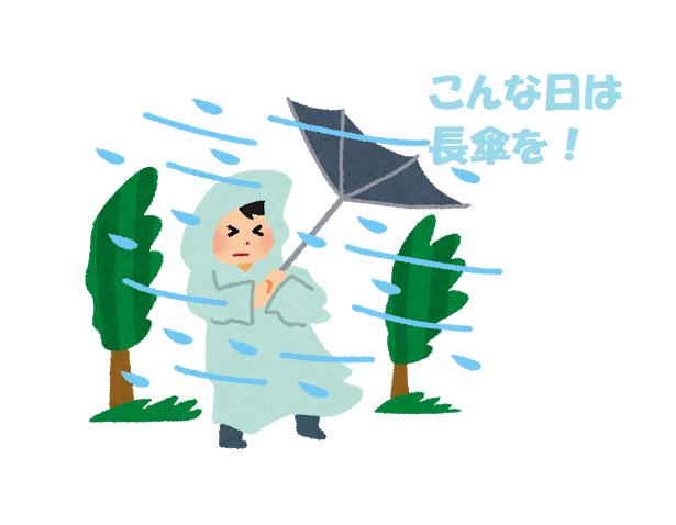 大雨の面接