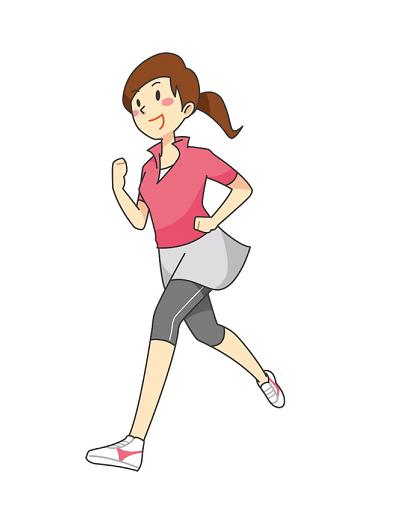 朝活でジョギング